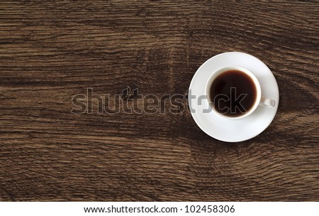 coffee cup with space on the wooden table