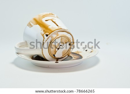 Coffee cup with white background .