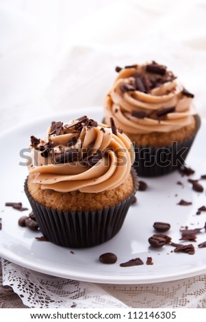Stock Photo Coffee cupcakes