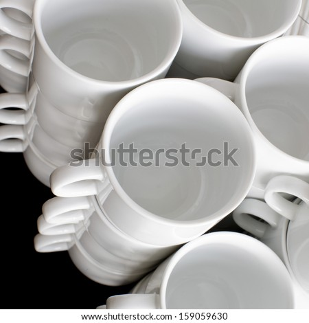 Coffee cups background
