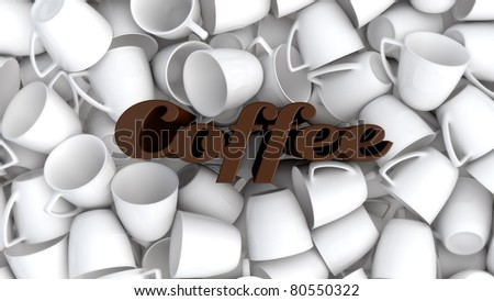 coffee cups concept illustration