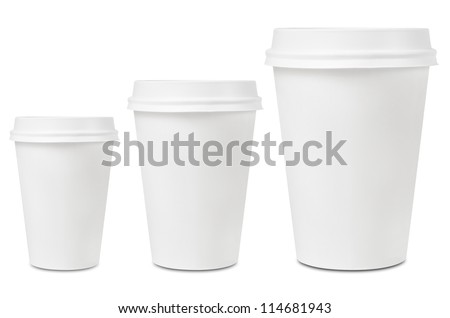 Coffee drinking cup sizes #114681943