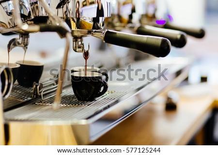 Coffee espresso from coffee espresso machine