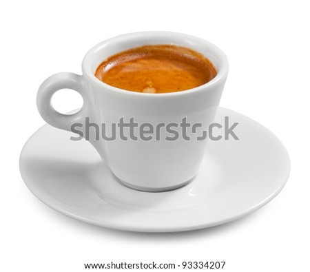 Coffee espresso isolated on white