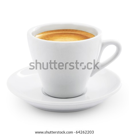 Coffee espresso isolated on white + Clipping Path #64262203