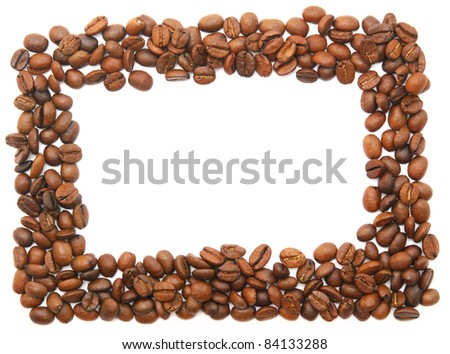 coffee frame isolated on white