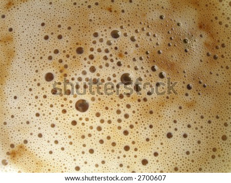 Coffee froth - stock photo