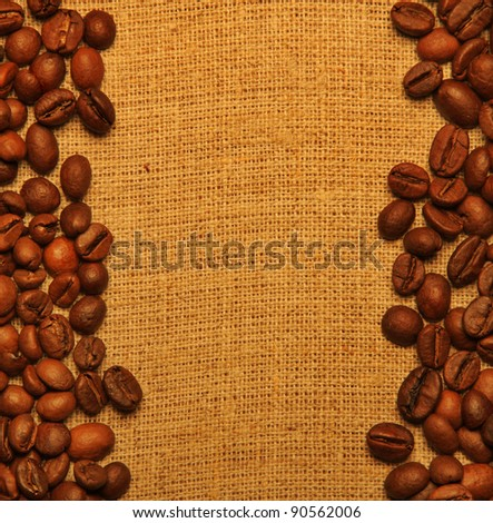 Coffee grains background with copy space