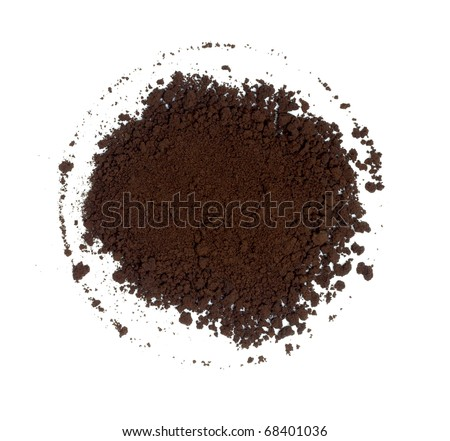 Coffee grains on the white