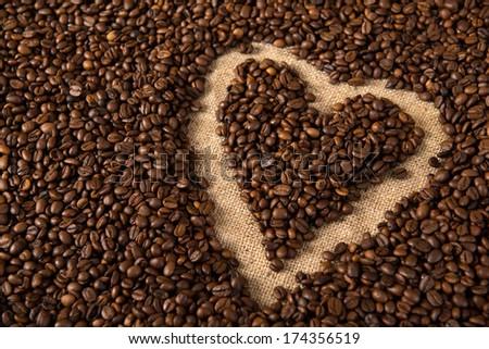 coffee heart #174356519