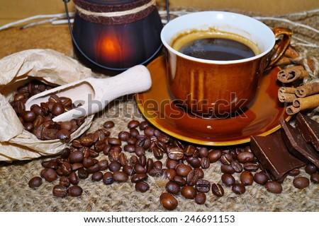 Coffee -  I love coffee - coffee  beans , coffee and chocolate