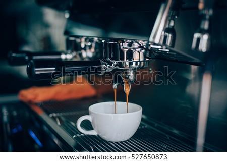 coffee in coffee shop vintage color tone