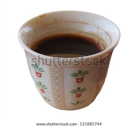 Coffee  in traditional arabic cup