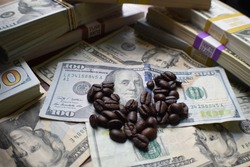 Coffee Industry's Lucrative Profits Concept
