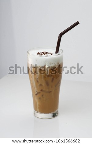Coffee is a brewed drink prepared from roasted coffee beans, which are the seeds of berries from the Coffea plant. #1061566682