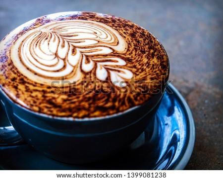 coffee latte art pattern barista #1399081238