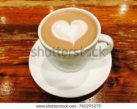 Coffee latte heart logo #765295279