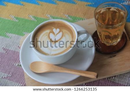 Coffee latte, Tea #1266253135