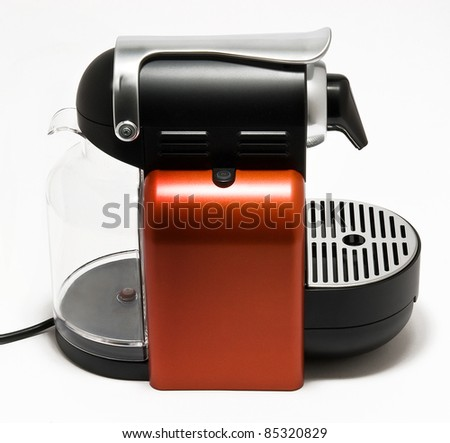 coffee machine isolated in white background