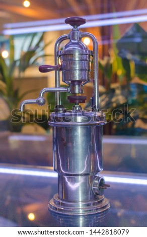 Coffee machine Melitta automat 120 features, the well-known filter holder model.