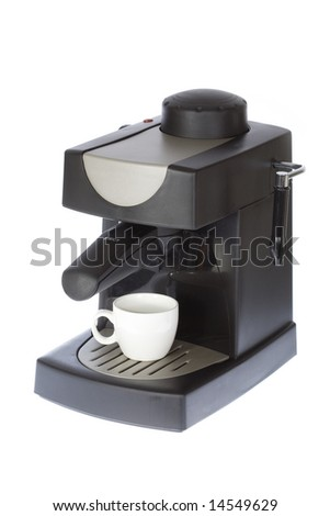 Coffee machine on a white isolated background
