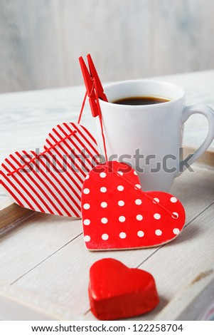 Coffee made with love for someone special
