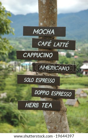 Coffee Menu Tab