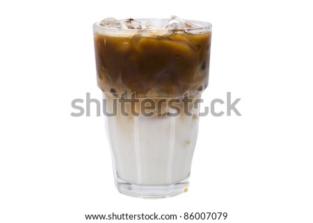 coffee milk on white backgrounds