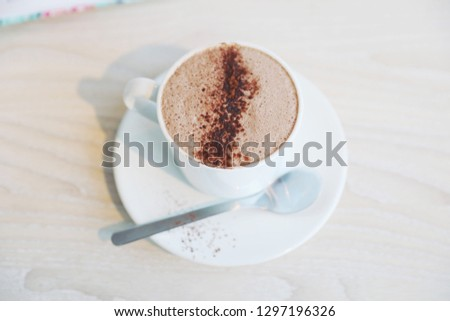 Coffee mocha with planner diary #1297196326