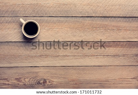 Coffee Mug on Wooden Table