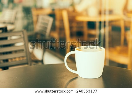 Coffee mug - vintage effect style pictures