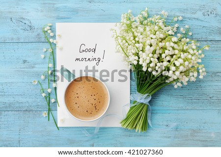 coffee mug with bouquet of...