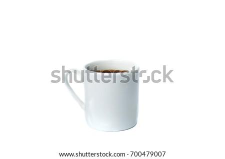 Coffee mug with coffee on a white background #700479007