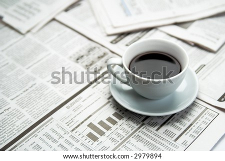 Coffee  newspaper , business