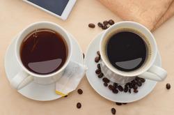 Coffee or tea in the morning