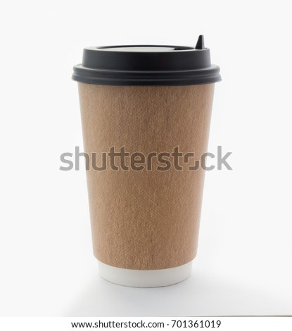 Coffee paper cup isolated on white #701361019