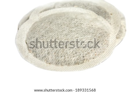 Coffee pods on white background - Coffee and tea pods isolated on white background Foto d'archivio ©