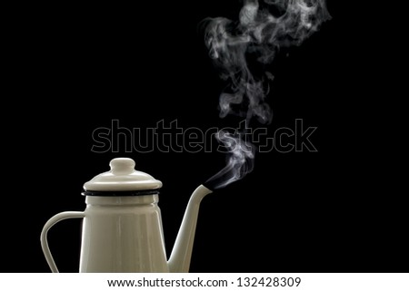 Coffee pot, steam