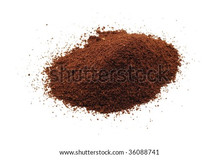 coffee powder isolated