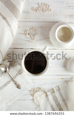 Coffee romantic drink on a romantic background #1387696355