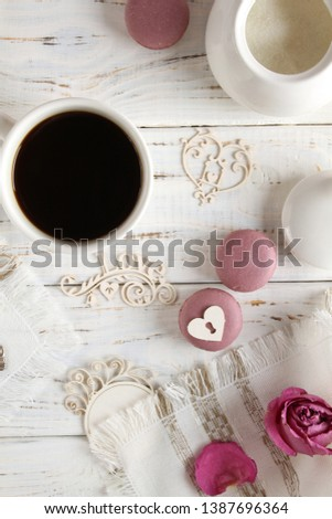 Coffee romantic drink on a romantic background #1387696364