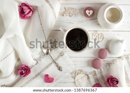 Coffee romantic drink on a romantic background #1387696367