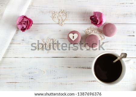 Coffee romantic drink on a romantic background #1387696376