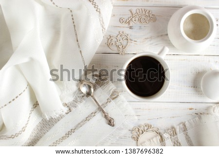 Coffee romantic drink on a romantic background #1387696382