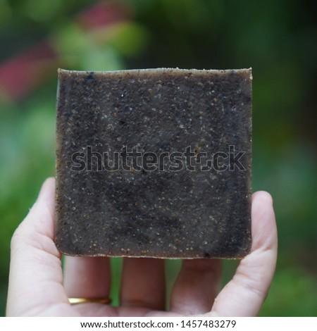Coffee scrub soap. Handmade soap.