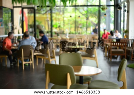 Coffee Shop Bar Counter Cafe Restaurant Relaxation Concept Free
