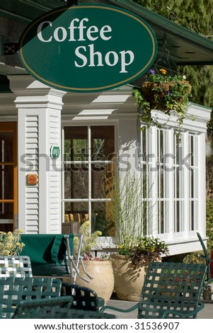 Coffee Shop Interior Design on Coffee Shop Entrance At Botanical Garden Stock Photo 31536907