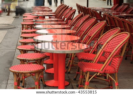 Coffee shop in Champs Elysees, Paris