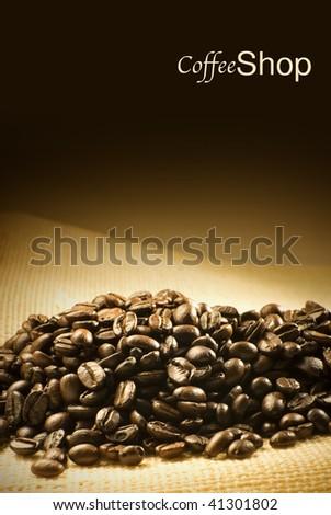coffee shop menu or flyer design