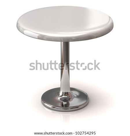 Coffee shop table isolated on white background